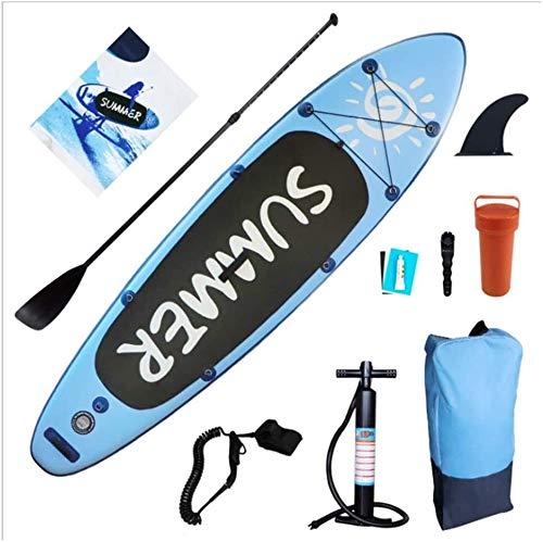 FANLIU Adulto Stand Up Paddle Board Principiante Tabla Surf Hinchable Sup PVC Doble Deportes Acuáticos Instalable Kayak Asiento