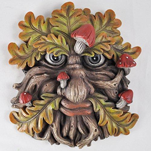 Fiesta Studios Baum Ent Face Wandschild Fungiface Großer Garten Greenman dekoratives Geschenk Dekor 16 cm