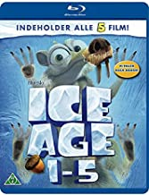 Ice Age 1-5 5-Disc Set ( Ice Age / Ice Age: The Meltdown / Ice Age: Dawn of the Dinosaurs / Ice Age: Continental Drift / Ice Age: Collision Course ) [ NON-USA FORMAT, Blu-Ray, Reg.B Import - Denmark ]