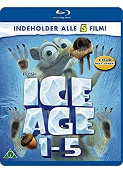 Ice Age 1-5 5-Disc Set   Ice Age / Ice Age  The Meltdown / Ice Age  Dawn of the Dinosaurs / Ice Age  Continental Drift / Ice Age  Collision Course   [ NON-USA FORMAT Blu-Ray Reg.B Import - Denmark ]