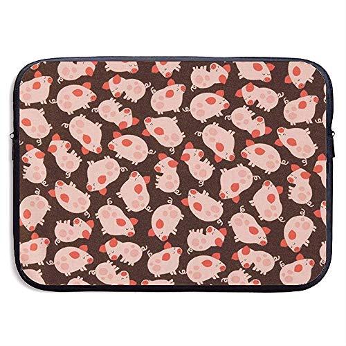 Fun Tossed Piggies Laptop Schutzhülle - Aktentasche Schutzhülle für MacBook Pro/Notebook, wasserdicht