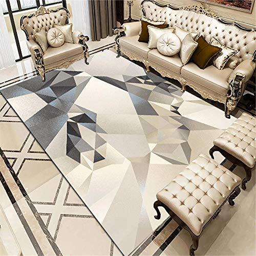 Kunsen alfombras de habitacion Infantil Alfombra de salón de salón Antideslizante Resistente a Las Manchas Simple geométrica Creativa alfombras Online Baratas Multicolor 1ft 4
