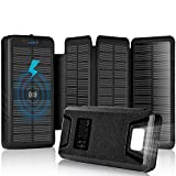 Best Solar Phone Chargers - Solar Charger 30000mAh Solar Power Bank with Dual Review