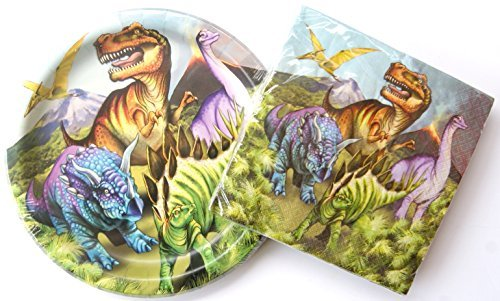Dinosaur Birthday Party Supply Kit - Plates and Napkins by Wal-Mart, Inc.