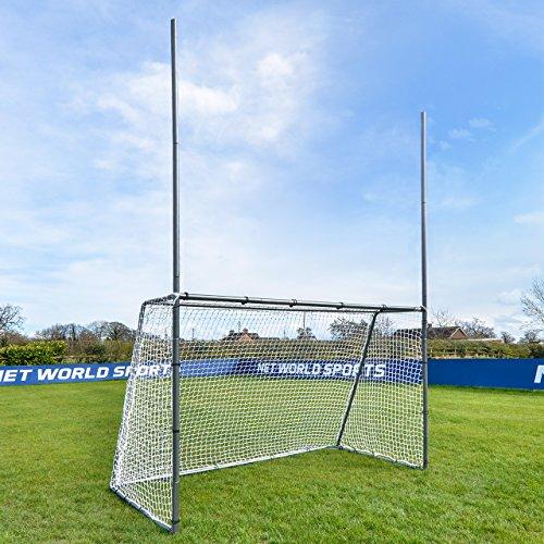 Net World Sports Forza Steel42 Football/Soccer Combination Goal Posts - Super Strong Steel Goals for The Backyard (15ft x 7ft)