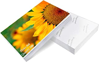 Photo Paper 4x6 inch High Glossy Paper 100 Sheets for ink jet