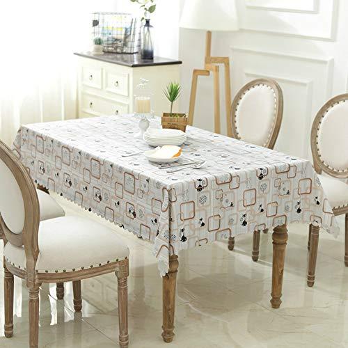 YOUYUANF Tischdeckengarten kann gewaschen Werden Karierte antike Tischdecke - Farbe und Größe optional - 100% BaumwolleMr. Cat110x160 cm