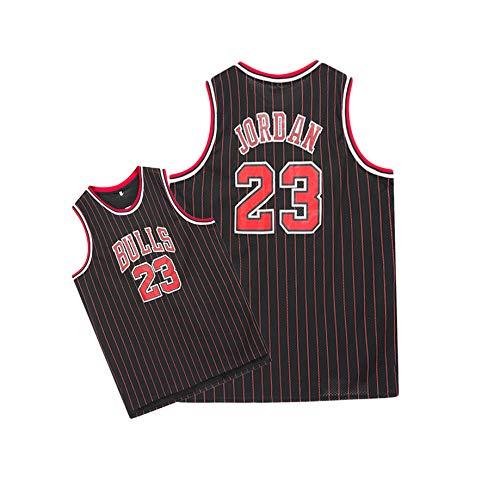 OKMJ #23 - Camiseta de baloncesto para hombre, diseo de toros, tejido transpirable bordado, secado rpido, tejido transpirable, color negro
