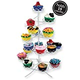White Coated Wire Cupcake Cake Stand Display Birthday Party Decoration Holds 19 - 2