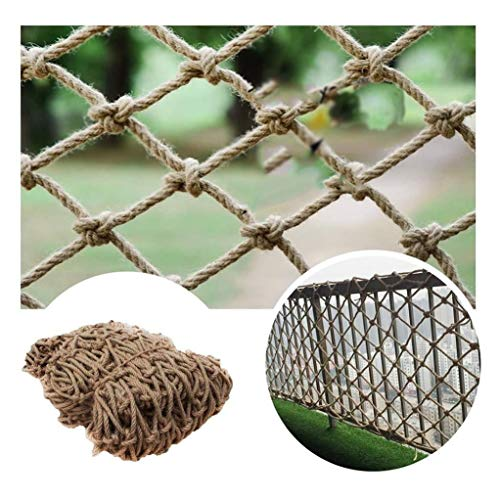 Review Hemp Rope Woven Rope Net Child Safety Net Photo Wall Rope Net Retro Bar Decoration Net Outdoo...