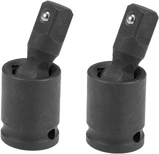 uxcell Universal Socket Joint 3/8-Inch Hex Ball Spring Swivel Socket Adapter Cr-V Black 2 Pcs