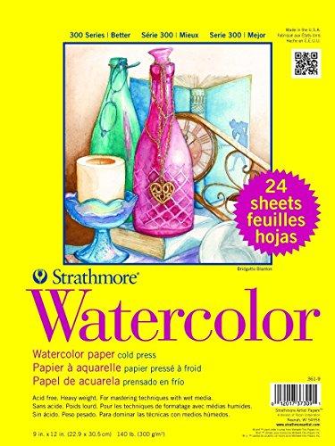 361-9 300 Series Watercolor, 9'x12', Cold Press, 24 Sheets per Class Pack