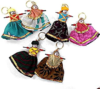 The Indian Arts Wooden Pupplet Set Small Keychain,Wooden Key Holder, Wooden Keychain, Wooden Keyring