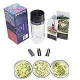 Spirina - Espiral de verduras - 4 ajustes de espaguetis/juliana y cortador en espiral para verduras para sartenes, ensaladas o platos de pasta + protector de manos + libro de recetas y manual