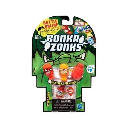 Marvel Universe Bonkazonks Series 1 Marvel 4-Pack in Hulk Packaging with 1 secret character (Colors and Styles may vary)