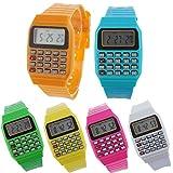 Lote de 24 Relojes Calculadora, Reloj Calculadora Niños - Divertidos Relojes niños y niñas. Relojes para comunion