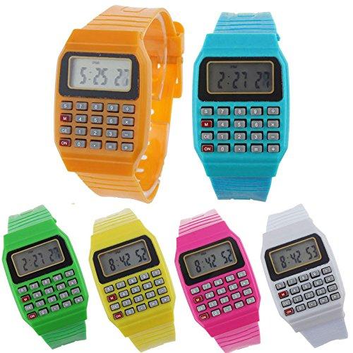 24 horloges, rekenmachines, rekenmachines, kinderen - grappige horloges voor jongens en meisjes. Communiehorloges