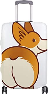 Mydaily Cute Welsh Corgi Dog Luggage Cover Fits 18-32 Inch Suitcase Spandex Travel Baggage Protector