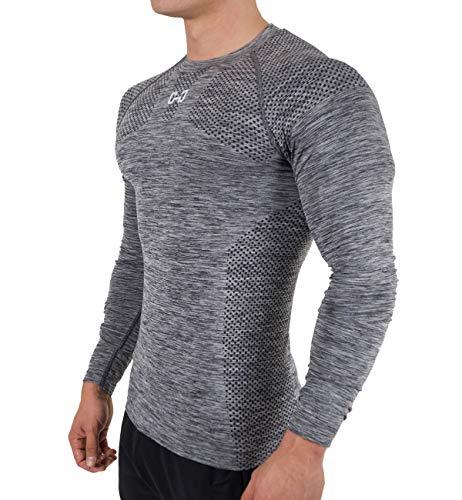 (ビベター)Bebetter コンプレッションウェア メンズ Tシャツ 長袖 スポーツシャツ トレーニングウェア 吸汗速乾 ストレッチ素材 XL