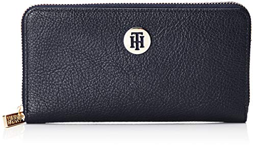 Tommy Hilfiger - Th Core Lrg Za Wallet, Carteras Mujer, Azul (Tommy Navy), 11x3x19 cm (B x H T)