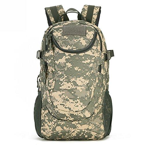 Fancybox Sac à dos militaire de 25 L - Résistant à l'eau - Sac d'assaut tactique pour étudiant, camping, chasse, trekking, voyage (camouflage ACU)
