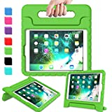 AVAWO Kids Case for iPad 9.7 2017/2018 & iPad Air 2 - Light Weight Shock Proof Convertible Handle Stand Friendly Kids Case for 9.7-inch iPad 5th & 6th Gen, iPad Air 1 & iPad Air 2 - Green