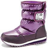 Kids Winter Snow Boots Waterproof Outdoor Warm Faux Fur Lined Shoes...