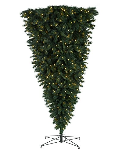 Treetopia Knocked Upside Down Christmas Tree, 7 Feet, Unlit