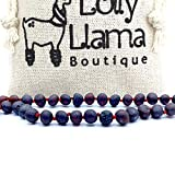 Genuine Baltic Amber Bracelet by Lolly Llama - Certified from The Baltic Sea - Raw Cherry