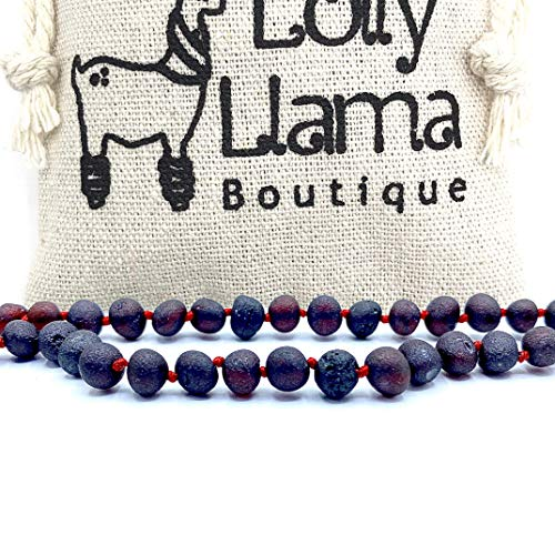 Genuine Baltic Amber Necklace by Lolly Llama - Certified from The Baltic Sea - Raw Cherry