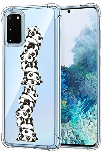 Suhctup Silikonhülle kompatibel mit Samsung Galaxy A50 / A50S / A30S, transparente Schutzhülle mit Panda-Motiven, weiches TPU-Gel, Bumper Slim, Crystal Full Body Stoßfest Case für Galaxy A50