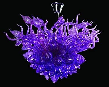 SHIJING Moderna lámpara de Cristal soplado alumbramientos Europeo del alumbrado Comedor Burbuja de Cristal