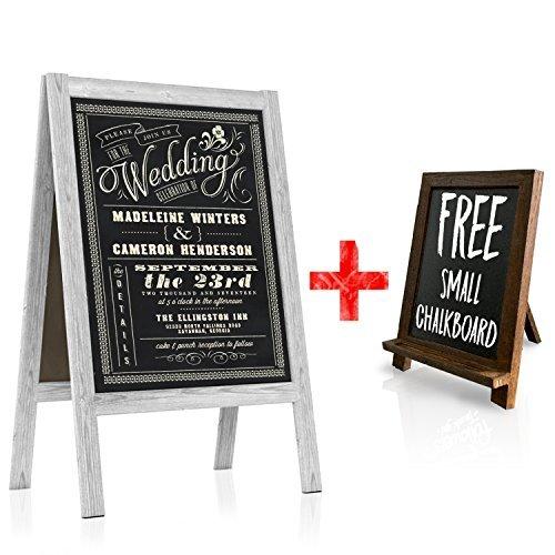 3868c713796 ArtsyRhino Chalkboard Wedding Sign - Large A Frame Standing Sidewalk