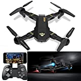 Drone RC,VISUO XS809HW RC Quadcopter WiFi FPV pliable selfie drone 2MP 3 batterie...