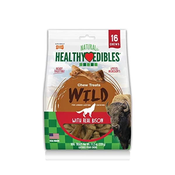Nylabone Healthy Edibles Wild Dog Treat |Long- Lasting | All Natural | Dog Bone Treats...