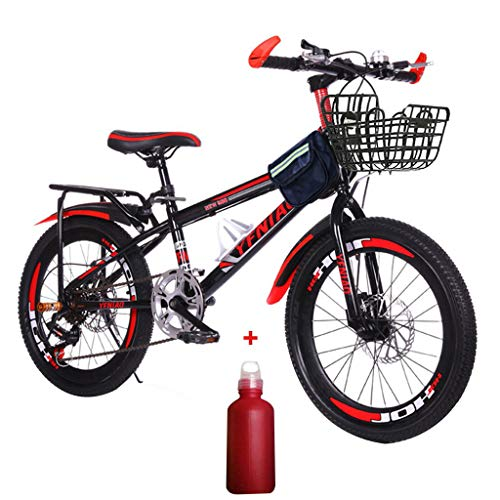 Honestyivan 22 Inch Mountain Bikes, Carbon Steel Variable Speed Mountain Trail Bike with Dual Disc Brakes, Lightweight Portable Mini Compact Full Suspension Road Bicycle for Office Worker Students