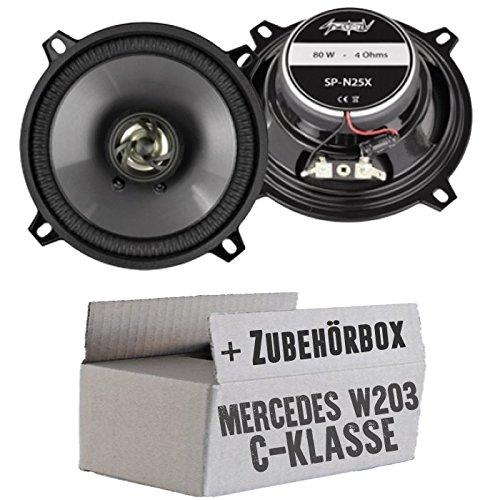Lasse W203 Heck - Lautsprecher Boxen Spectron SP-N25X | 13cm 2-Wege Koax Auto Einbauzubehör - Einbauset für Mercedes C-Klasse JUST SOUND best choice for caraudio