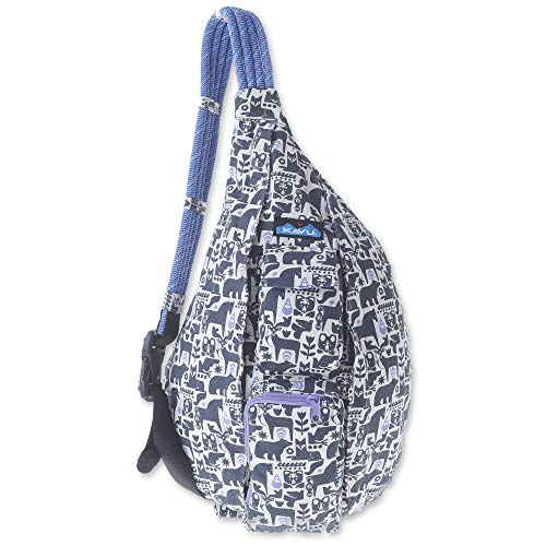 KAVU Original Rope Bag - Compact Lightweight Crossbody - Charcoal Fable