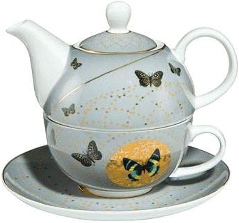 Goebel  Tea for One    Set mit Joanna Charlotte Motiv  grau Butterflies B01N2JPU60 dc3771