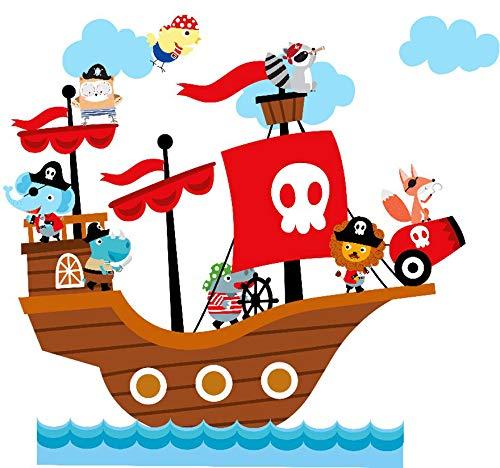Vinilo decorativo con diseño de piratas.
