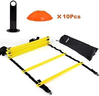 color tama/ño 12 pulgadas Kosma Pack de 6 obst/áculos de entrenamiento de agilidad naranja Ayuda de entrenamiento de velocidad multideportivo con asa de transporte