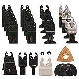 Outil Multifonction Saw Blades Accessoires Kit,CGBOOM 28 Pcs Accessoires d'outils Oscillants Multifonctions Lame de scie universelle pour Fein Multimaster, Dremel, Bosch, Makita, Dewalt et plus encore
