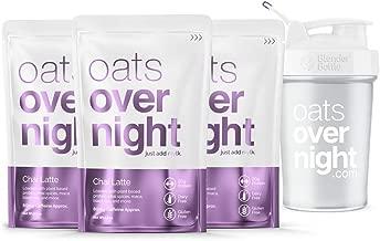 Oats Overnight - Chai Latte Starter Pack - Dairy-Free - Premium High-Protein, Low-Sugar, Gluten-Free, Vegan Oatmeal (2.5oz per pack)