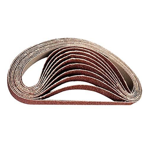 GHKUFH Schuurband 20 stks slijpen en polijsten vervanging schuurband korrel papier voor haakse slijper machine schuurmiddelen accessoires gereedschap (60#,