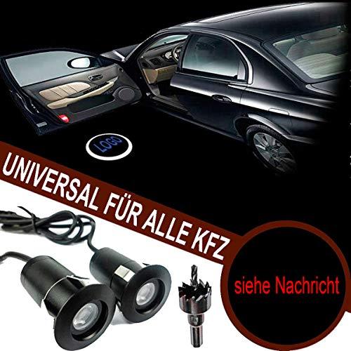 VAWAR Autotür Logo Licht, 12V LED Projektor, Ghost Shadow Willkommen Einstiegsbeleuchtung, 5th Gen. Geist Schatten Lampe, universal for Alle KFZ (Emblem siehe Nachricht)