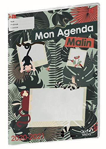 Quo Vadis My Agenda Malin Semenier CM1-CM2 settimanale 21 x 29,7 cm, Giungla, anno 2020-2021