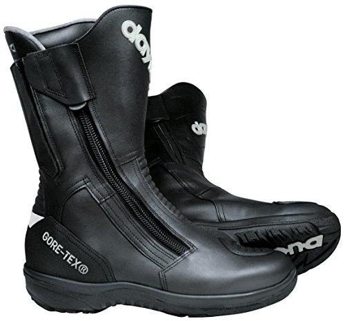 Daytona Boots Motorradschuhe, Motorradstiefel lang Road Star Gore-TEX Stiefel schwarz schmale Passform 44, Unisex, Tourer, Ganzjährig, Leder