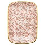 Tranquillo Eckige Seifenschale LIESI aus Steingut mit Löchern für den Wasserablauf 13,5 x 9,5 x 2...