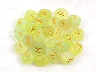 Runes Green Onyx Rune Stones Set Crystal Runes Viking Elder Futhark Runic Alphabets
