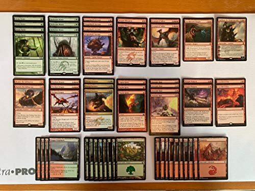 Elite Red Green Dragon Deck - Modern Legal - Custom Built - Magic The Gathering - MTG - 60 Card